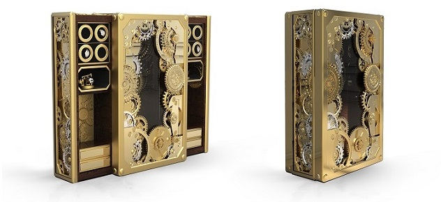 A hyper-luxury steampunk safe you will want to see A hyper-luxury steampunk safe you will want to see A hyper-luxury steampunk safe you will want to see Limited edition furniture a steampunk inspired safe1