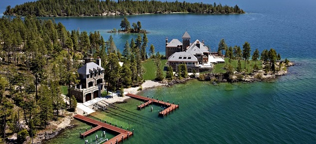 A Mansion on a Private Island: Shelter Island Estate in Montana mansion on a private island A Mansion on a Private Island: Shelter Island Estate in Montana Shelter Island Estate Flathead Lake Montana2