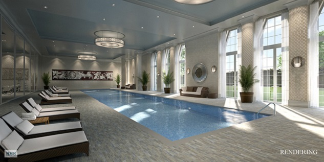 The incredible swimmingpool! Well, at least for an apartment it is....