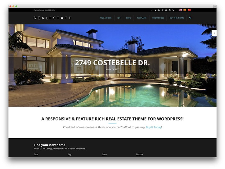 50 Stylish and Responsive Real Estate WordPress Themes ➤ To see more news about The Most Expensive Homes around the world visit us at www.themostexpensivehomes.com #mostexpensive #mostexpensivehomes #themostexpensivehomes @expensivehomes real estate wordpress themes 50 Stylish and Responsive Real Estate WordPress Themes (Part 1) 50 Stylish and Responsive Real Estate WordPress Templates 9