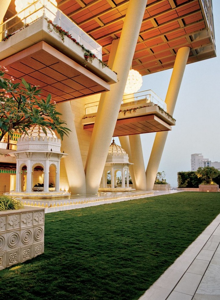 The Outrageous 27-Storey Antilia Is the Most Expensive Home in India most expensive home The Outrageous 27-Storey Antilia Is the Most Expensive Home in India The Outrageous 27 Storey Antilia Is the Most Valuable Home in India 30