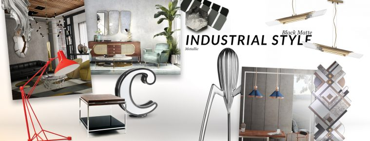 How Industrial Style Trend Gives You The Most Luxurious House Ever industrial style trend How Industrial Style Trend Gives You The Most Luxurious House Ever moodboard collection insdustrial style interior decor trend for 2019 10 759x290