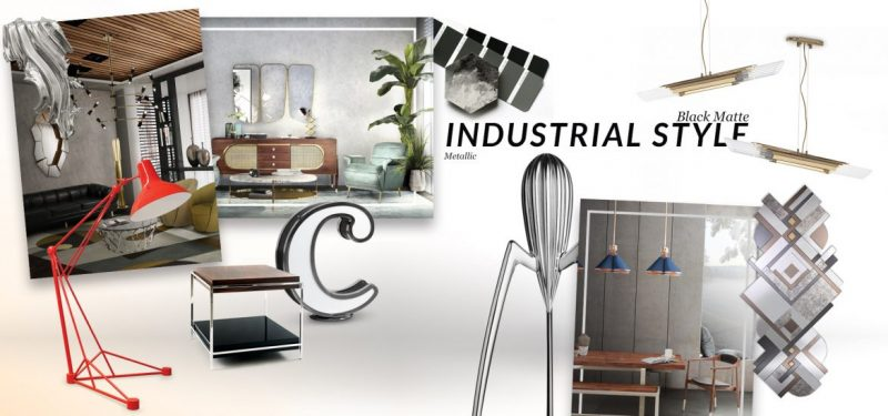 How Industrial Style Trend Gives You The Most Luxurious House Ever industrial style trend How Industrial Style Trend Gives You The Most Luxurious House Ever moodboard collection insdustrial style interior decor trend for 2019 10 e1553097595573