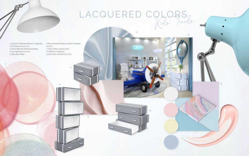 Lacquered Colors Trend In Luxury Décor Ideas lacquered colors Lacquered Colors Trend In Luxury Décor Ideas moodboard collection lacquered colors interior decor trend for 2019 17 e1553678783342