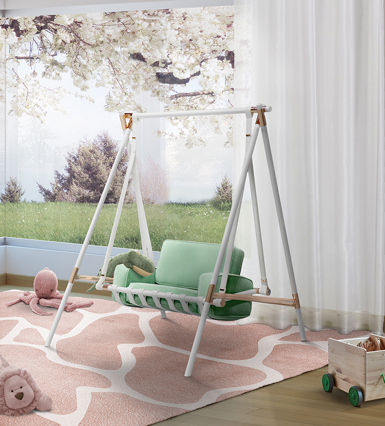 Neo Mint And Its Influence on Amazing Kid's Bedrooms  neo mint Neo Mint And Its Influence on Amazing Kid's Bedrooms booboo swing circu magical furniture 1