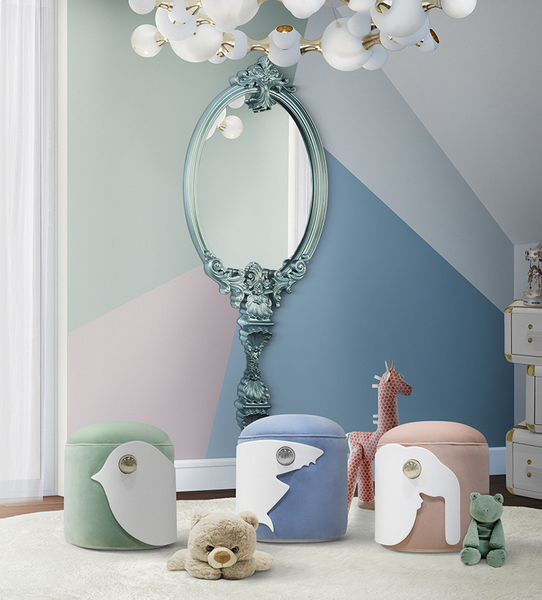 Neo Mint And Its Influence on Amazing Kid's Bedrooms  neo mint Neo Mint And Its Influence on Amazing Kid's Bedrooms chameleon mirror circu magical furniture 1
