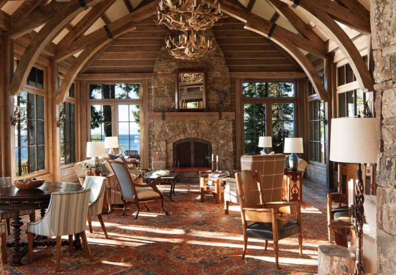 Be Amazed By This Wooden Paradise In Lake Tahoe Mansion