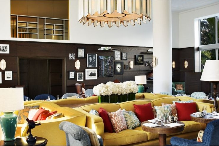 Discover The Most Incredible Top 20 Interior Designers From L.A. top 20 interior designers Discover The Most Incredible Top 20 Interior Designers From L.A. 10 Soho Beach House Hotel Lobby Seating Area by Martin Brudnizki Design Studio