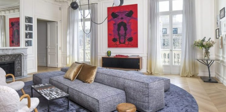 Discover The Top French Interior Designers - Part II french interior designers Discover The Top French Interior Designers  – Part II Rodolphe Parente Appartement Trocadero 02 e1561539399138 745x370