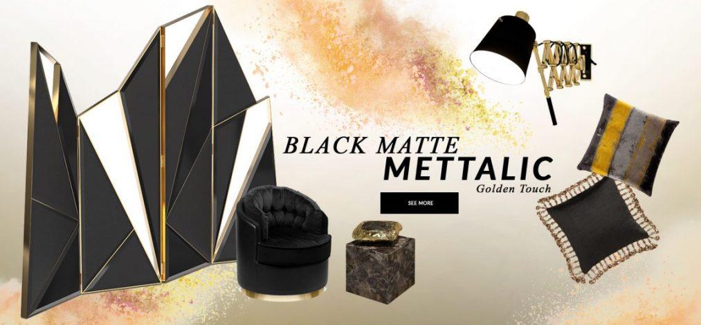 black matte mettalic Design Trends 2020: Black Matte Mettalic With A Golden Touch design trends 2020 black matte mettalic golden touch 1 1013x470