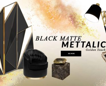 Design Trends 2020: Black Matte Mettalic With A Golden Touch