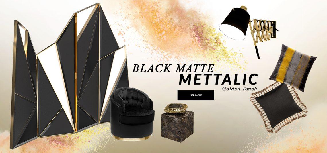 Design Trends 2020: Black Matte Mettalic With A Golden Touch black matte mettalic Design Trends 2020: Black Matte Mettalic With A Golden Touch design trends 2020 black matte mettalic golden touch 1