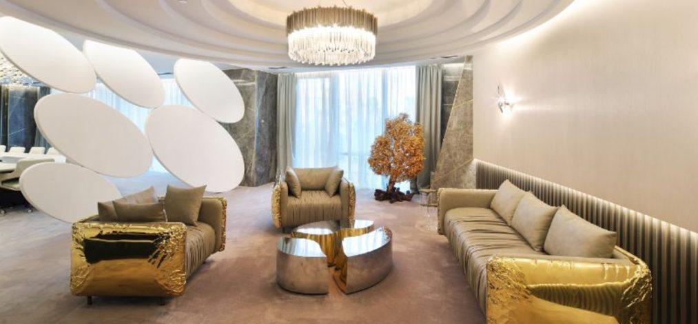 sicilia shine Fall In Love With Sicilia Shine's Office Design Project BOCA DO LOBO A Golden And Imposing Office Design By 1013x470