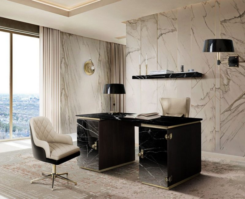 home offices Home Offices: Upgrade It With 10 Luxury Design Ideas! Home Offices Upgrade It With 10 Luxury Design Ideas e1602604658727